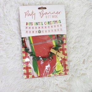 TMD Days Until Christmas Party Banner NWT